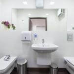 Łazienka dla pacjentek ginekologa.